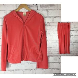 Balance Collection coral velour track suit